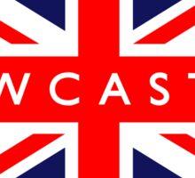 Newcastle UK British Union Jack Flag Sticker
