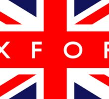 Oxford UK British Union Jack Flag Sticker
