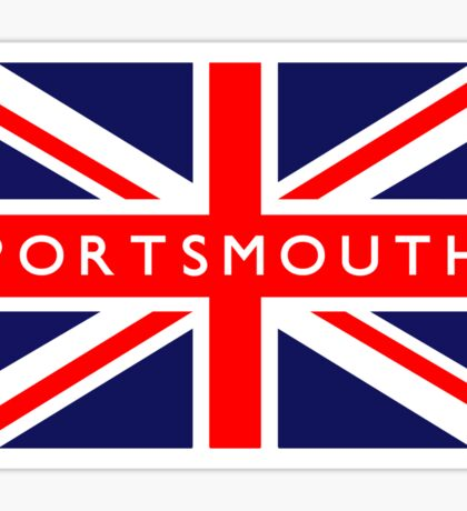 Portsmouth UK British Union Jack Flag Sticker