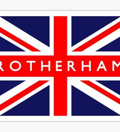 Rotherham UK British Union Jack Flag Sticker