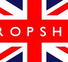 Shropshire UK British Union Jack Flag Sticker