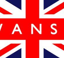 Swansea UK British Union Jack Flag Sticker