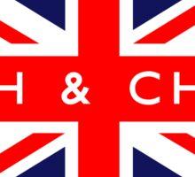Fish & Chips UK British Union Jack Flag Sticker
