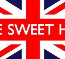 Home Sweet Home UK British Union Jack Flag Sticker