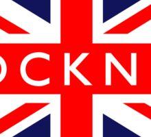 Cockney UK British Union Jack Flag Sticker
