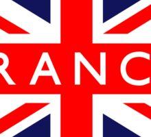France UK British Union Jack Flag Sticker