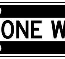 One Way Road Sign Die Cut Sticker Sticker