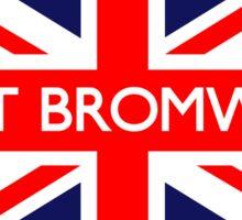 West Bromwich UK British Union Jack Flag Sticker