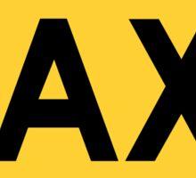 Taxi Sign Die Cut Sticker Sticker