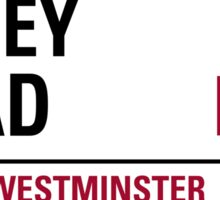 Abbey Rd London Road Sign Die Cut Sticker Sticker