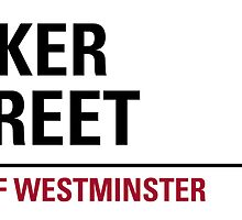 Baker Street London Road Sign Die Cut Sticker by ukedward