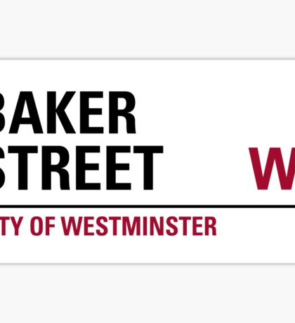 Baker Street London Road Sign Die Cut Sticker Sticker