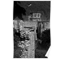 Heidelberg Castle in Black & White Poster