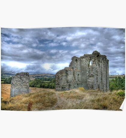 """Clun Castle"" Poster"