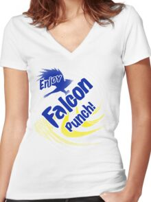 Falcon Punch! Women's Fitted V-Neck T-Shirt