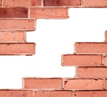 Red bricks broken wall and chuckhole Sticker
