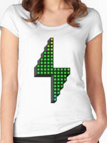 Pixel Powerhouse Women's Fitted Scoop T-Shirt