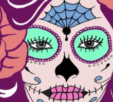 Colorful Sugar Skull Woman Sticker