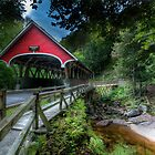 Covered Bridge at the Flume by Sylvain Dumas