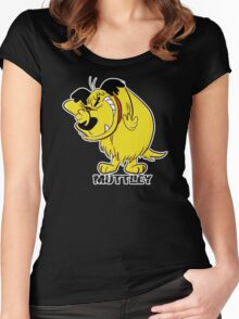 MUTTLEY FUNNY T SHIRTS T-SHIRTS WACKY RACES CARTOON ANT HILL MOB Hanna Barbera Women's Fitted Scoop T-Shirt