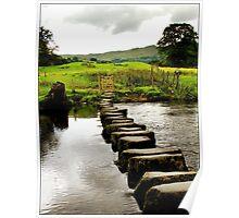 Stepping stones, Cumbria,UK Poster