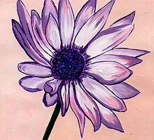 Sue's White and Purple Flower by Anne Gitto