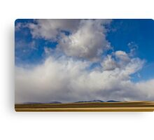 Storm Skies Over The Plains Canvas Print