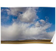 Storm Skies Over The Plains Poster