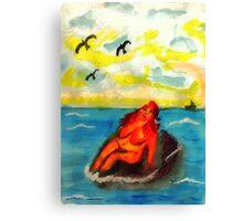 Where can a person sunbathe in privacy,,,watercolor Canvas Print