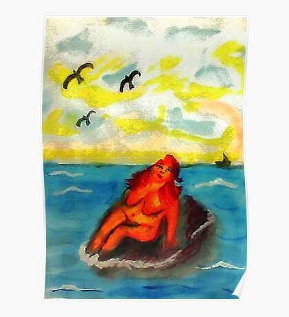 Where can a person sunbathe in privacy,,,watercolor Poster