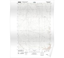 USGS Topo Map Oregon Rosebush 20110903 TM Poster