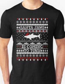 Santa Jaws Ugly Christmas T-Shirt