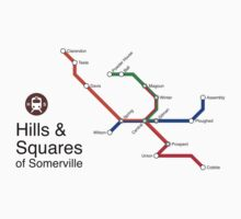 Hills & Squares of Somerville T-Shirt