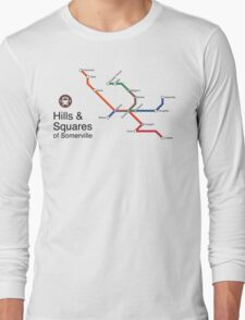 Hills & Squares of Somerville Long Sleeve T-Shirt