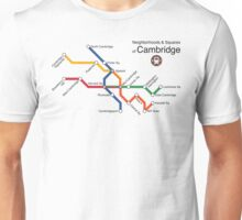 Neighborhoods & Squares of Cambridge Unisex T-Shirt
