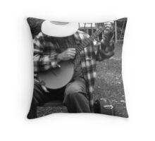 """Shy Banjo Player"" Throw Pillow"