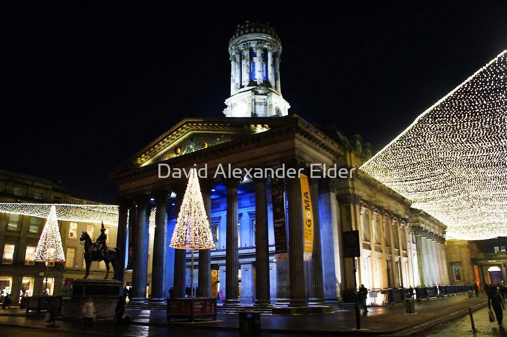 Christmas Lights, Gallery of Modern Art, Glasgow by David Alexander Elder
