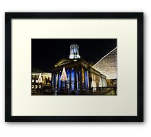 Christmas Lights, Gallery of Modern Art, Glasgow Framed Print