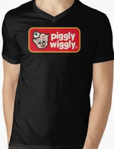 Piggly Wiggly T-shirt retro 70's 80's vintage country 100% cotton graphic tee Mens V-Neck T-Shirt