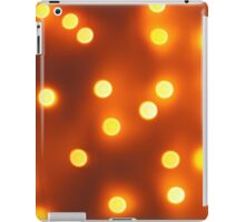 Abstract defocused and blur bokeh background of small yellow lights iPad Case/Skin