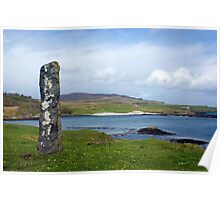 Standing Stone on the Isle of Eigg, Scotland Poster