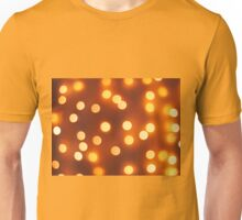 Abstract defocused and blur small yellow lights Unisex T-Shirt