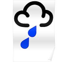 RAIN WEATHER SYMBOL Funny Mens T Shirt Size S - XXXL - Raining Flood Humour Poster