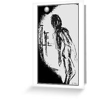 moon june spoon Greeting Card