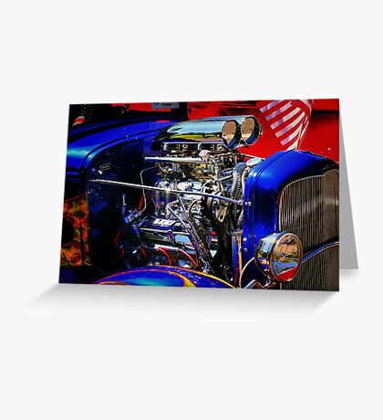 Color and Chrome Greeting Card