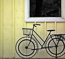 Bicycle & Garden Shed by BonnieToll