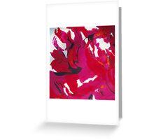 Pink abstract Greeting Card