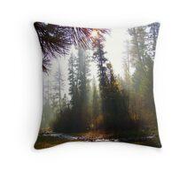 Autumn Haze on the North Fork Throw Pillow