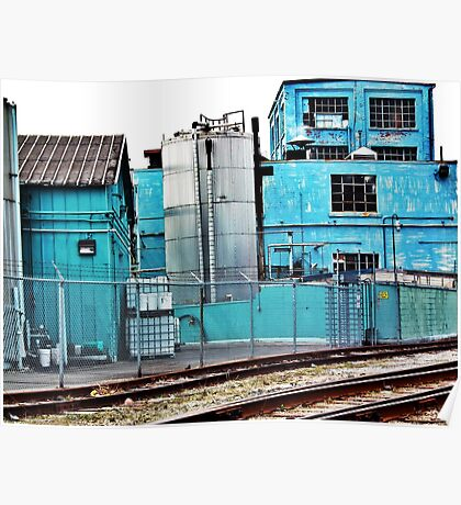 Urban decay in blue Poster