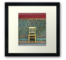 Yellow Chair at the Imperial Palace Framed Print